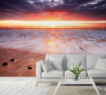 Sunset on the beach Exotic Paradise wall murals